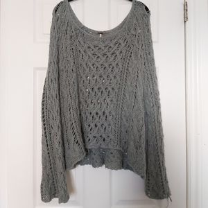 Free People oversized crochet sweater S